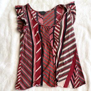 Armani Exchange Red Patterned Top